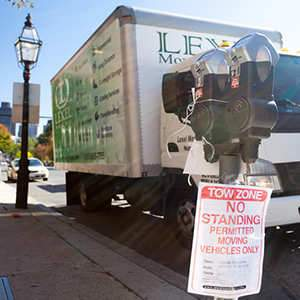 BOSTON MOVERS MOVING TRUCK PARKING