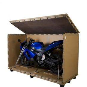 Crating of a motorcycle